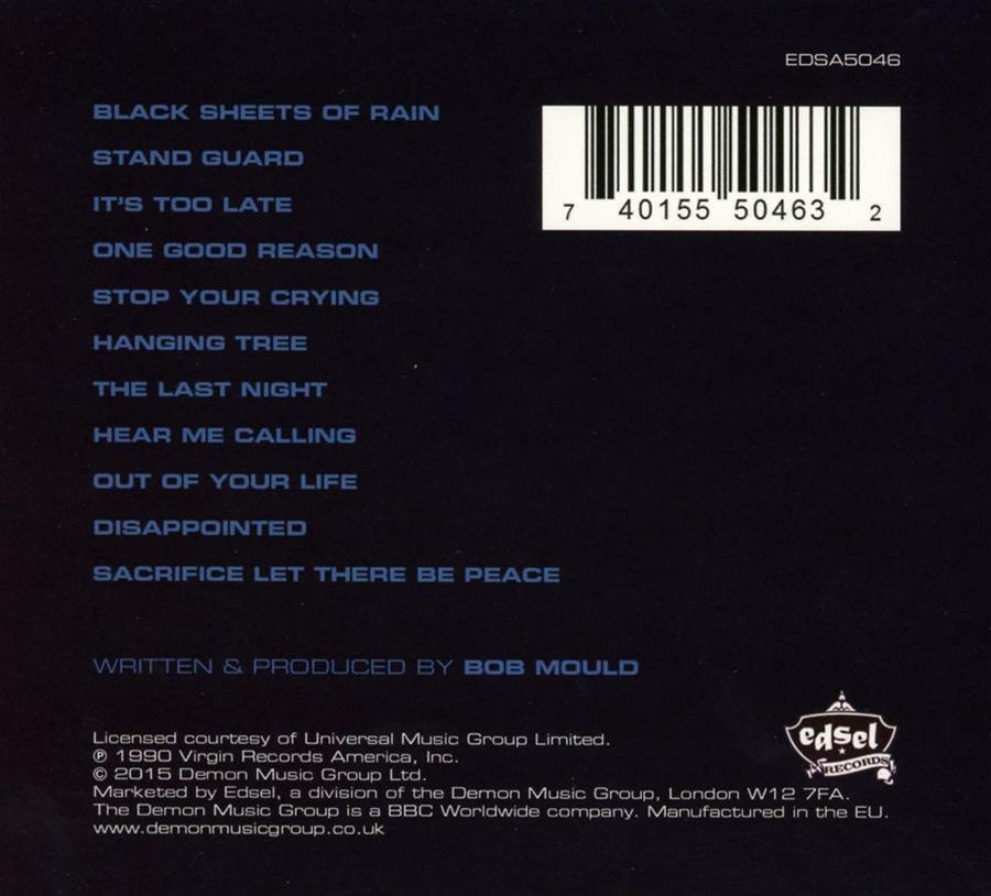 Back Cover - Black Sheets Of Rain (1990)