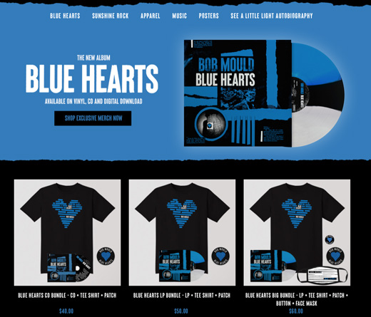 Bob Mould Official Store 2020 - BLUE HEARTS